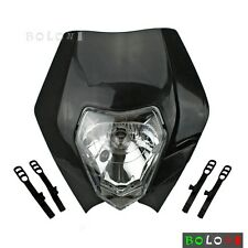 Black Supermoto Front Enduro Light Headlight Lamp Dirtbike For Honda Yamaha KTM