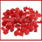 RED 50 Pcs Scotch Lock Quick Splice 22-18 AWG Wire Connector 0.5-1.0mm² NEW
