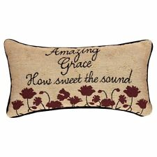 "AMAZING GRACE Decorative Throw Pillow 17"" x 9"", by Manual Weavers"