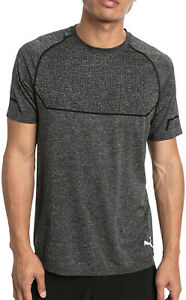 Puma Energy Seamless Short Sleeve Mens Training Top - Grey
