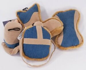Trails Of The West Boot, Canteen, Bone & Hat Plush Dog Toys Squeaker Puppy B53
