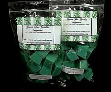 PEPPERMINT Scented Tart Wax Melts Chunks Chips Home Candle Warmer Fruit Scent