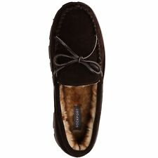 Men Rockport Indoor outdoor Brown Slippers Suede Leather Size 9