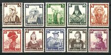 DR Nazi 3rd Reich Rare WW2 Lux Stamp Hitler Nothilfe National Girl Costume Woman