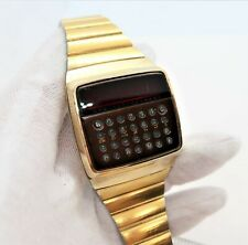 "HEWLETT PACKARD,HP,HP-01,1977 Calculator, ""Red Led"" Digital RARE! MENS WATCH,478"
