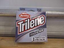 Berkley Trilene Micro Ice 2 lb test 110 yards clear steel NIP