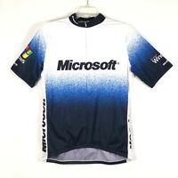 VTG Sugoi Microsoft Windows Cycling Jersey 1/2 Zip Short Sleeve Mens Size L EUC