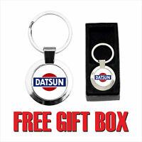 DATSUN LOGO ( CMK015 ) ROUND METAL KETRING - free Gift Box