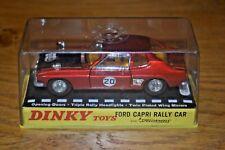 Vintage Dinky Toys No. 213 Ford Capri Rally Car Original Plastic Display Box