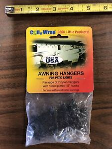 Coil 'n Wrap Awning Hangers for Patio Lights; 7 Pack
