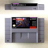 Super Castlevania 4 Game Card Console For Nintendo US Version SNES 16 Bit Eng