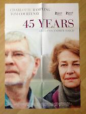 Filmposter * Kinoplakat * A1 * 45 Years * 2015 * Rampling + Courtenay
