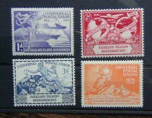 Falkland Islands Dependencies 1949 UPU Universal Postal Union set MM