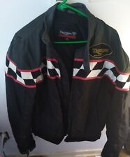 Triumph Armored Textile Leather Jacket Men Size XL Checkered Embroidered GUC