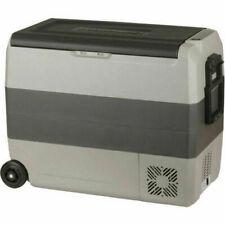 Brass Monkey 50L 12V/240V Portable Fridge Freezer with Wheels - Gray
