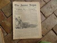 VINTAGE  NEWSPAPER THE JUNIOR ARGUS APRIL 30 ,1936 8 PAGES KHYBER PASS