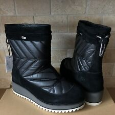UGG Beck Black Waterproof Winter Snow Short Boots Size US 8 Womens