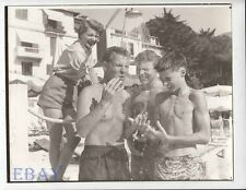 Ozzie Nelson and sons shower RARE Photo