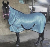 NEW AIR FLOW FOAL/MINI/SHETLAND/PONY FLY RUG SOFT MESH ATTACHED NECK COVER