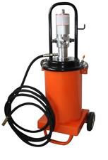 Profi Fettpresse pneumatisch Druckluft Abschmierpresse fahrbar 12 Liter Inhalt!