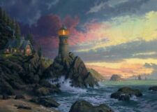 "Thomas Kinkade Signed Canvas- GP #9/1100 Canvas- Rock of Salvation 24"" x 36"""