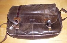 "Kenneth Cole Reaction 3.3""x16.8""x12.8"" Leather Messenger Bag - Brown"