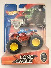Hot Wheels Monster Jam Truck LONE EAGLE Red/White/Blue #41 2004 Die-cast 1/64