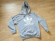 Womans Gray Adidas Hoody Tracksuit Top Size 10 Winter Xmas Fashion