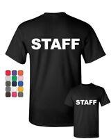Staff T-Shirt Event Staff Uniform Employee Party Security Mens Tee Shirt