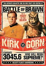 Star Trek Kirk v. Gorn Metal Sign       290mm x 200mm (nm)