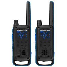 Motorola Talkabout T800 Two-Way Radio, 35 Mile, 2 Pack, Bluetooth, Black & Blue