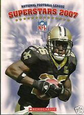 NFL SUPERSTARS 2007 FOOTBALL 15 BIOS W/ PIX  SCHOLASTIC