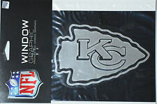 Kansas City Chiefs Silver Chrome Window Graphic Decal NFL Football - 4x5