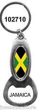 "Jamaica Bottle Opener Keychain 4.25"" Long x 1.5"" Wide"