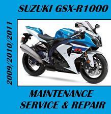 New listing Suzuki Gsx-R1000 Service Repair Manual 2009 2010 2011 Rebuild Gsxr1000 Gsxr 1000