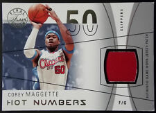 2003-04 Flair Final Edition COREY MAGGETTE Hot Numbers Patch Rare SP #1/28