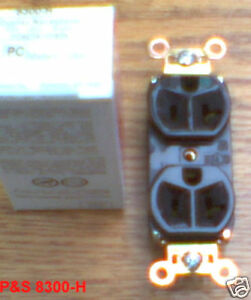 NEW P&S 8300-H 20 AMP 125 5-20R DUPLEX RECEPTACLE 8300H