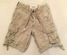 Abercrombie & Fitch Men's Button Fly Cargo Shorts Drawstring Size 28        A&F