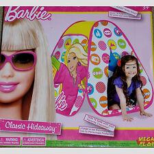 BARBIE~CARS~CLASSIC HIDEAWAY~KIDS~BOY GIRL~TWIST TENT~EZ POP UP~PLAY IN/OUTDOOR