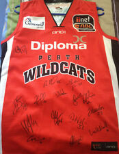 Signed Perth Wildcats NBL jersey – 2011/12 season