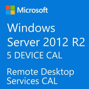 Windows Server 2012 / 2012 R2 Remote Desktop Services RDS 5 DEVICE CAL License