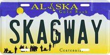 Skagway Alaska Aluminum License Plate