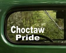 2 CHOCTAW PRIDE STICKERs Native American Decal Car Truck Laptop Bumper Window