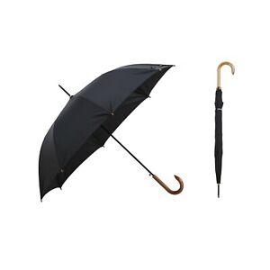 Krago Classic Men Real Wooden J-Handle Windproof Umbrella