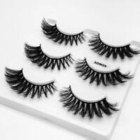 Handmade Thick Wispy Long  3D Mink Hair Eye Lashes Extension False Eyelashes