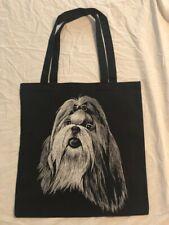 Shih Tzu Dog Design Cotton Tote Bag Shopping Travel Beach Gym Bag Shih Tzu
