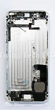 For iPhone 5 White Silver Rear Housing With Parts Prefitted - Metal Back Cover