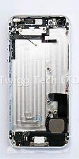 Para iPhone 5 Blanco Plata cubierta posterior con Cubierta Posterior de Metal piezas premontado