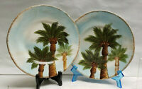 "Two (2) TABLETOPS UNLIMITED China - BAJA Pattern (Palm Tree) - 9"" SALAD PLATES"