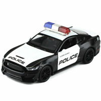 1:32 Ford Mustang Shelby GT350 Police Model Car Diecast Toy Vehicle Kids Sound